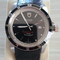 Tudor Grantour Date Steel Black No numerals