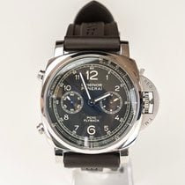 Panerai Luminor 1950 3 Days Chrono Flyback pre-owned 44mm Black Chronograph Flyback Tachymeter Leather