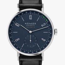 NOMOS Tangente Neomatik Steel 40.5mm Blue Arabic numerals
