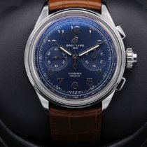 Breitling Duograph Сталь 42mm Синий