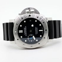 Panerai Steel Automatic Black 42mm pre-owned Luminor Submersible 1950 3 Days Automatic
