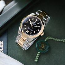 Rolex Explorer Goud/Staal 36mm Zwart Arabisch Nederland, Damwald