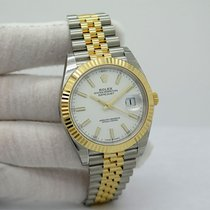Rolex Datejust Acero y oro 41mm Blanco