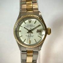 Rolex Oyster Perpetual Lady Date Gold/Stahl 26mm Weiß Keine Ziffern Schweiz, Chiasso