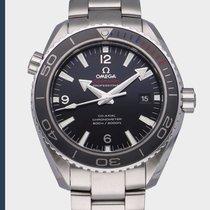 Omega Seamaster Planet Ocean gebraucht 45.5mm Schwarz Datum Stahl