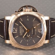 Panerai PAM 00576 Rose gold 2019 Luminor 1950 8 Days GMT 44mm pre-owned