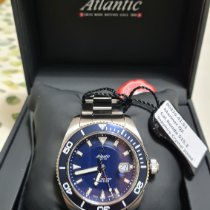 Atlantic new Quartz 44mm Steel Sapphire crystal
