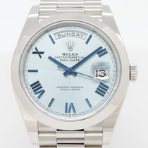 Rolex Day-Date 40 Платина 40mm Синий Без цифр
