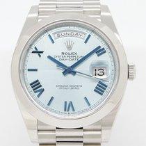 Rolex Day-Date 40 Platino 40mm Azul Sin cifras