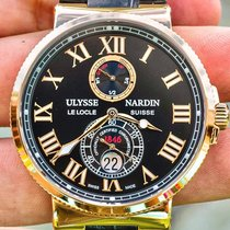 Ulysse Nardin Marine Chronometer 43mm pre-owned 43mm Black Date Leather