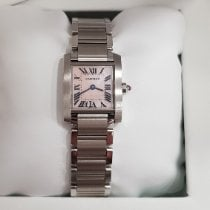 Cartier Tank Française Steel 20mm Mother of pearl Roman numerals
