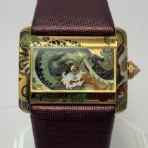 Cartier Tank Divan new Quartz Watch with original box and original papers Cartier Mini Tank Divan Cloisonne