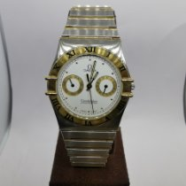Omega Constellation Day-Date Gold/Steel 32mm White Roman numerals