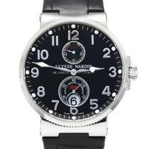 Ulysse Nardin Marine Chronometer 41mm ikinci el 41mm Siyah Takvim Timsah derisi