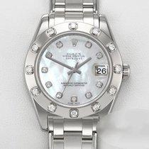 Rolex Lady-Datejust Pearlmaster Weißgold 34mm Perlmutt Keine Ziffern