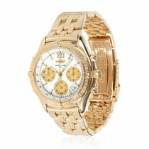 Breitling Yellow gold White 36mm pre-owned Chronomat