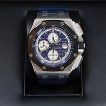 Audemars Piguet Platinum Automatic Blue No numerals 44mm new Royal Oak Offshore Chronograph
