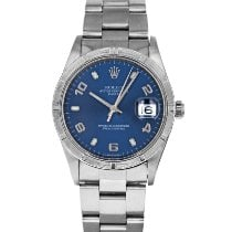 Rolex Oyster Perpetual Date Steel 34mm Blue No numerals United States of America, Maryland, Baltimore, MD