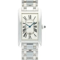 Cartier Tank Américaine White gold 26.5mm Silver Roman numerals United States of America, California, Beverly Hills