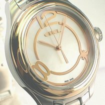 Ebel Onde Gold/Steel 36mm Mother of pearl Arabic numerals