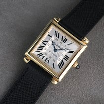 Cartier Tank (submodel) Yellow gold 26.5mm Silver Roman numerals