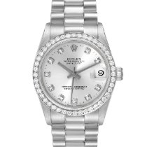 Rolex Platinum Automatic Silver 31mm pre-owned Lady-Datejust