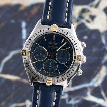 Breitling Callisto pre-owned 36mm Blue Chronograph Calf skin