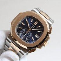 Patek Philippe Nautilus Золото/Cталь 40.5mm Синий Без цифр