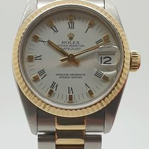 Rolex Lady-Datejust Zlato/Zeljezo 31mm Bjel Rimski brojevi