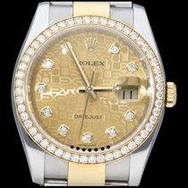 Rolex Datejust 116243 Odlično Zlato/Zeljezo 36mm Automatika