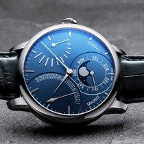 Maurice Lacroix Masterpiece Phases de Lune Stahl 43mm Blau Schweiz, Zürich