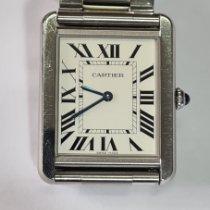 Cartier Tank Solo Steel Silver Roman numerals