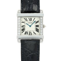 Cartier Platinum Manual winding Silver 30mm pre-owned Tank (submodel)