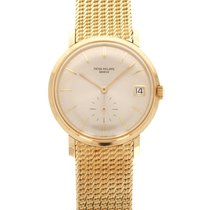 Patek Philippe Yellow gold Automatic Silver 36mm pre-owned Calatrava