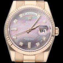 Rolex Day-Date 36 Or rose 36mm Nacre Sans chiffres Belgique, Brussel