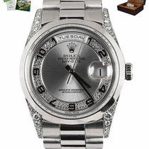 Rolex Day-Date 36 Platinum 36mm Silver Arabic numerals United States of America, New York, Smithtown