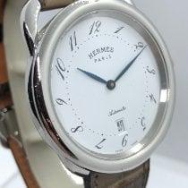 Hermès Arceau Steel 41mm White Arabic numerals