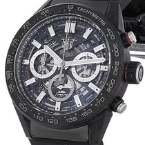 TAG Heuer new Automatic Display back Small seconds Luminous hands Luminous indices 45mm Carbon Sapphire crystal