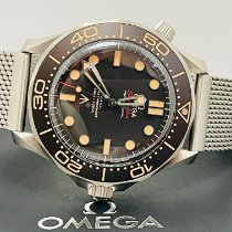 Omega Seamaster Diver 300 M Titanium 42mm Zwart Geen cijfers