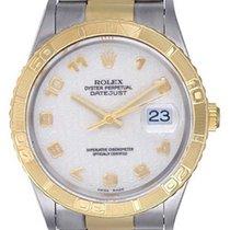 Rolex Datejust Turn-O-Graph Zlato/Zeljezo 36mm Bjel