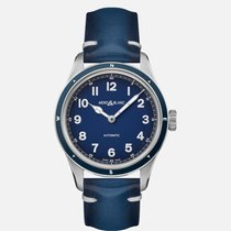 Montblanc 1858 Silver 40mm Blue Arabic numerals United States of America, New Jersey, River Edge