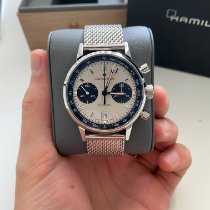 Hamilton Intra-Matic pre-owned 40mm White Chronograph Date Leather