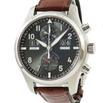 IWC Automatic Grey 46mm pre-owned Pilot Spitfire Perpetual Calendar Digital Date-Month