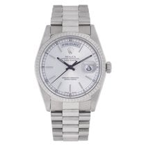 Rolex Day-Date 36 White gold 36mm Silver No numerals United States of America, Florida, Surfside