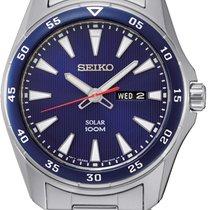 Seiko Solar Сталь 44mm Синий