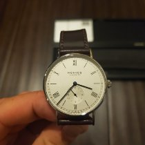 NOMOS Ludwig 38 Steel 38mm Silver Roman numerals United States of America, Illinois, Sycamore