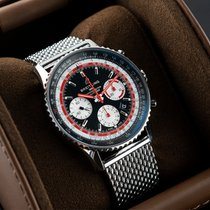 Breitling Steel Automatic Black 43mm pre-owned Navitimer 1 B01 Chronograph 43