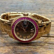 Rolex Oro rosa Automático Rosa Romanos 29mm nuevo Lady-Datejust Pearlmaster