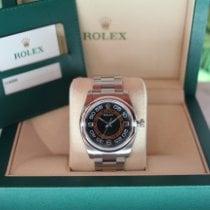 Rolex Oyster Perpetual 36 Acciaio 36mm Arancione Arabi Italia, Este