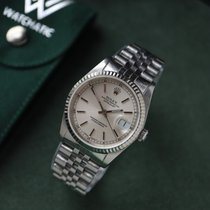 Rolex Datejust Stal 36mm Srebrny Bez cyfr